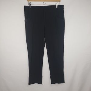 Gap Black Stretch Cropped Cuffed Trousers